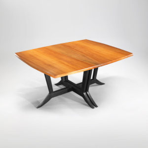 Hand-crafted Mirembe Pacific Madrone drop-leaf table and chair