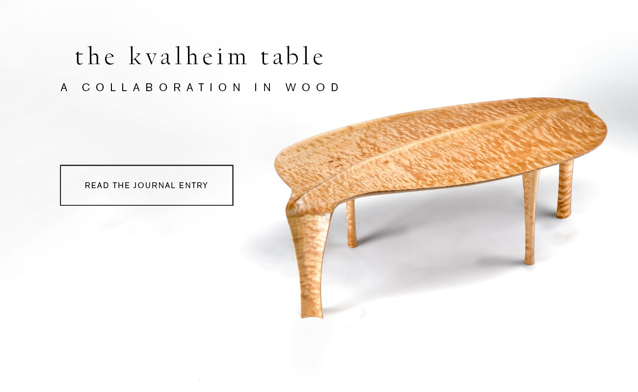 Custom handmade woodworking Kvalheim table by Erickson Woodworking