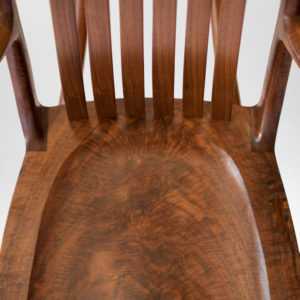 Seat view on our custom handmade South Yuba Rocking Chair