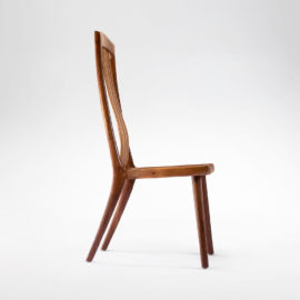 Side View of the handmade South Yuba Side Chair