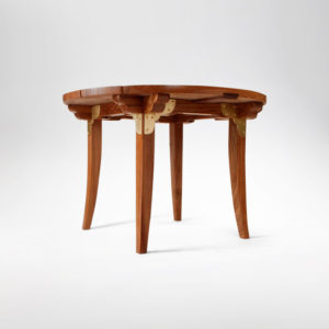 Mackey Outdoor Table crafted from salvaged elm