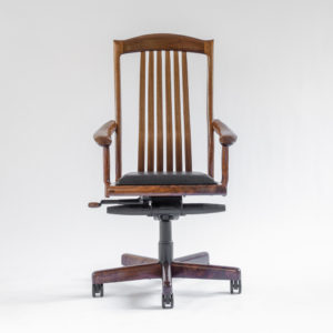 Front view of the Niobrara handmade office chair