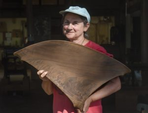 Woodworker Holly Tornheim at Erickson Woodworking