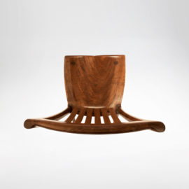 Top view of our signature handmade South Yuba Side Chair