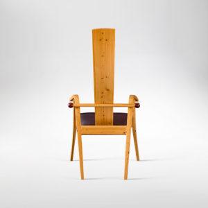 Rear view of our handmade Tashjian Chair