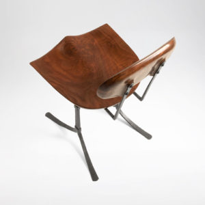 Top view of the handcrafted Sandhill Chair