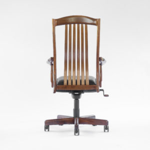 Rear view of the handcrafted Niobrara office chair