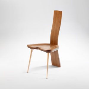 Front angle view of the Van Muyden Side Chair