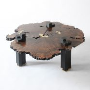 The live edge Columnar Coffee Table