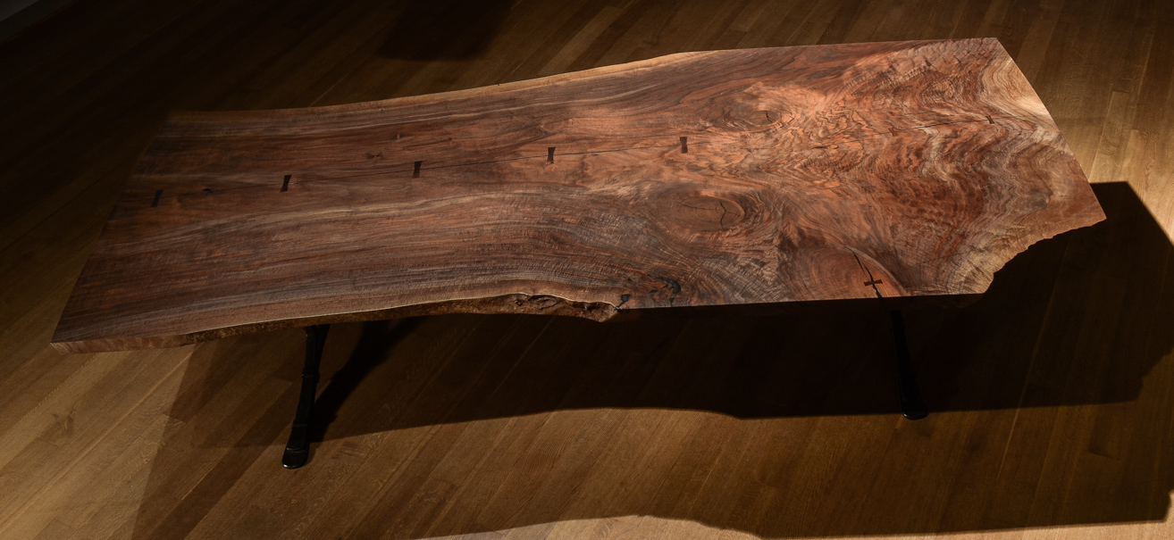 Custom live edge dining table