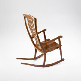 Top view of our signature handmade South Yuba Rocking Chair