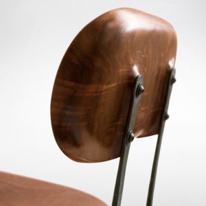 Close-up of hand-hammered iron on the Sandhill Chair