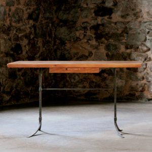 Handmade Sandhill writing desk w/ hand-forged steel
