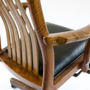 Rear top armrest angle view of the handcrafted Niobrara Office Chair