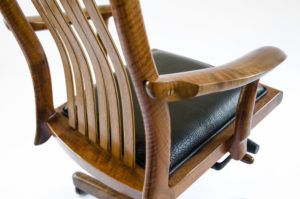 Rear angle view of the handcrafted Niobrara office chair