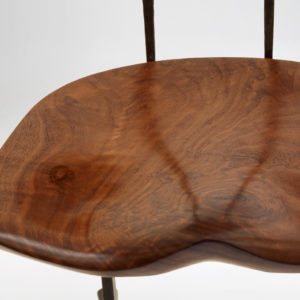 Close-up seat view of the solid handmade Sandhill Chair