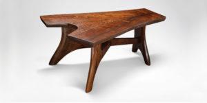 Handmade split bole coffee table