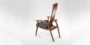 Rear View of the handmade Tashjian Chair w/ hand-sewn upholstery