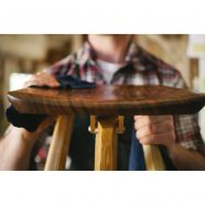Tor Erickson Working on The Langhorne Camp Stool