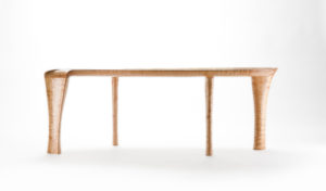Side view of our coffee table collaboration w/ Holly Tornheim, The Kvalheim Coffee Table