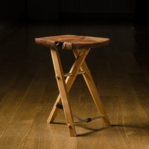 Handmade live edge version of The Langhorne Stool designed by Tor Erickson for The Living Chair Series