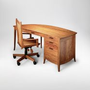 Hand-crafted Meshel office desk and chair