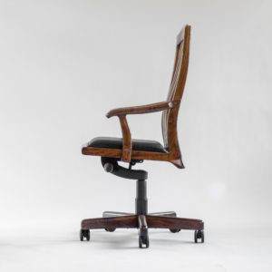 Left side view of the Niobrara handcrafted office chair