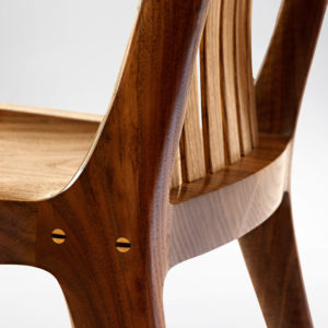 Close up of handcarved accents on the South Yuba Side Chair