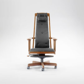 Front view of our custom McCorkle office chair