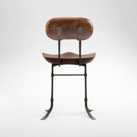 Rear view of the custom Sandhill Chair side chair