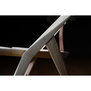 Side close-up view of the Reyes Dining Chair