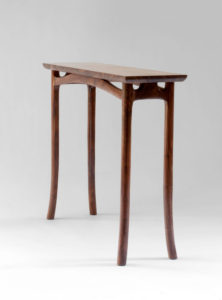 Front angle view of our collaborative, handcrafted Lazzaro End Table