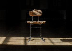 Tor Erickson's interpretation of The Sandhill Chair w/ live edges in The Living Chair Series
