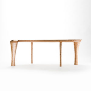 Side view of our custom design, hand-crafted Kvalheim Coffee Table