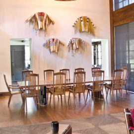 Our custom handmade Filip Dining Table as featured in our client's home.