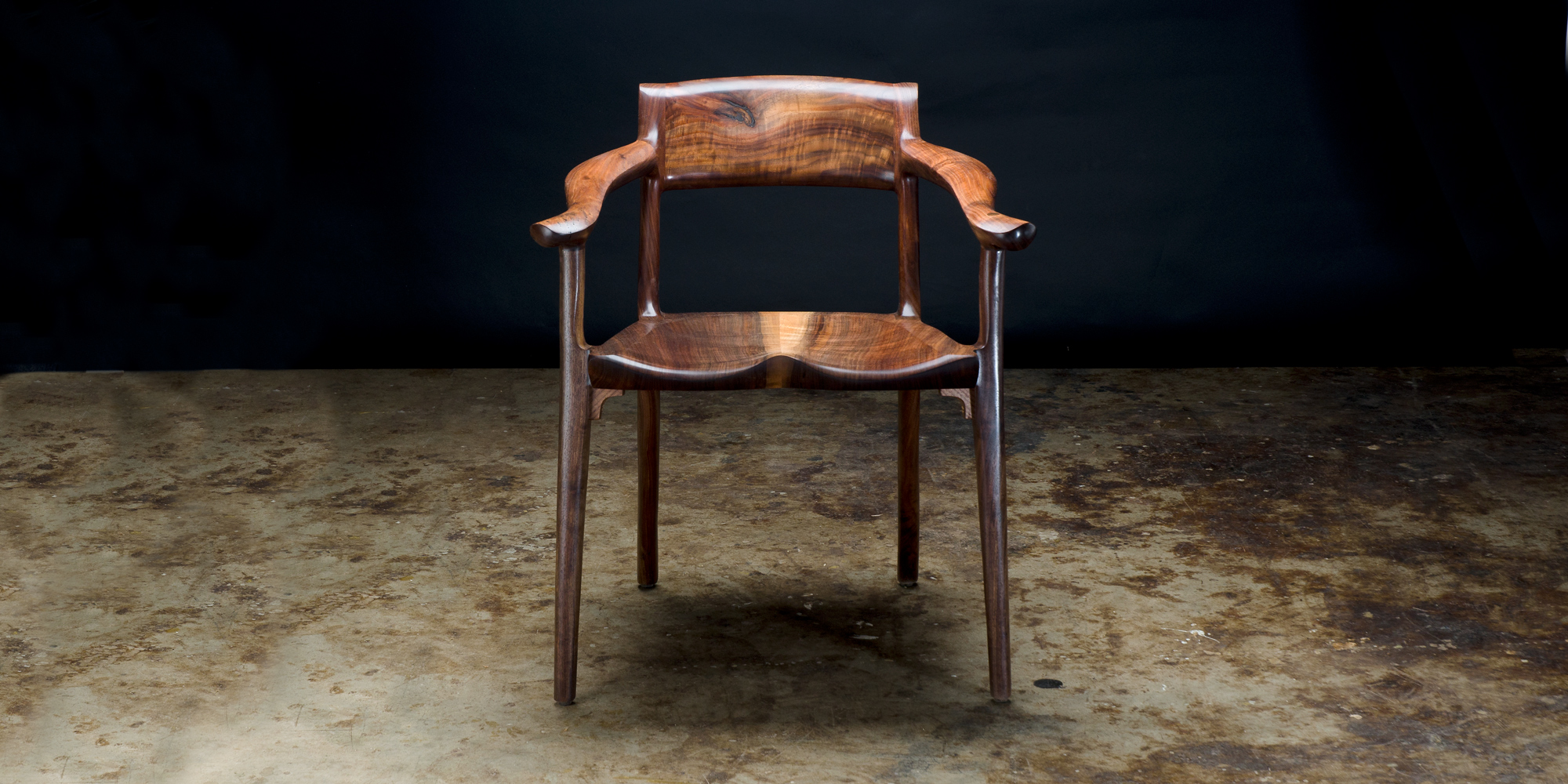 Front view of our handcrafted Sumi Chair