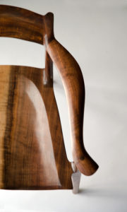 View of the Right Arm design on the Sumi Chair, our handmade low back arm chair