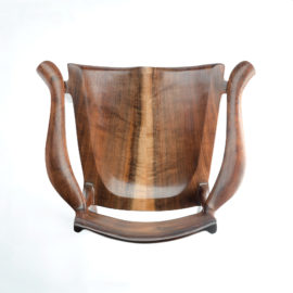 Top angle view of our handmade Sumi Chair