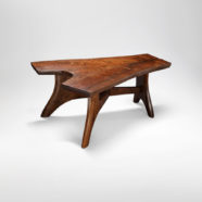Custom handmade coffee table from split bole