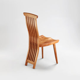 Back detail on our handmade Lilienfeld Chair, which is a companion to the Gilbert Desk