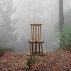 A natural setting for our handmade Lilienfeld Chair, a companion to the handmade Gilbert Desk