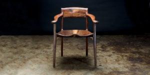 A new, sculptural chair design.