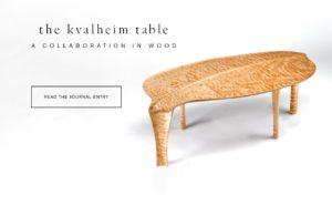 Custom handmade woodworking Kvalheim table by Erickson Woodworking