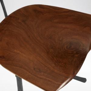 Close-up of custom Sandhill Chair's seat