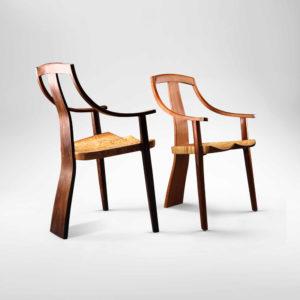 Custom handcrafted Van Muyden Arm Chair