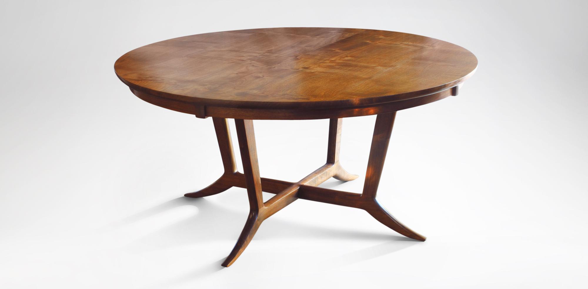 Our handmade Murdock Table w/ custom wooden fittings