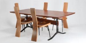 The Salin Dining Set w/ custom Salin Dining Table and handmade dining chairs