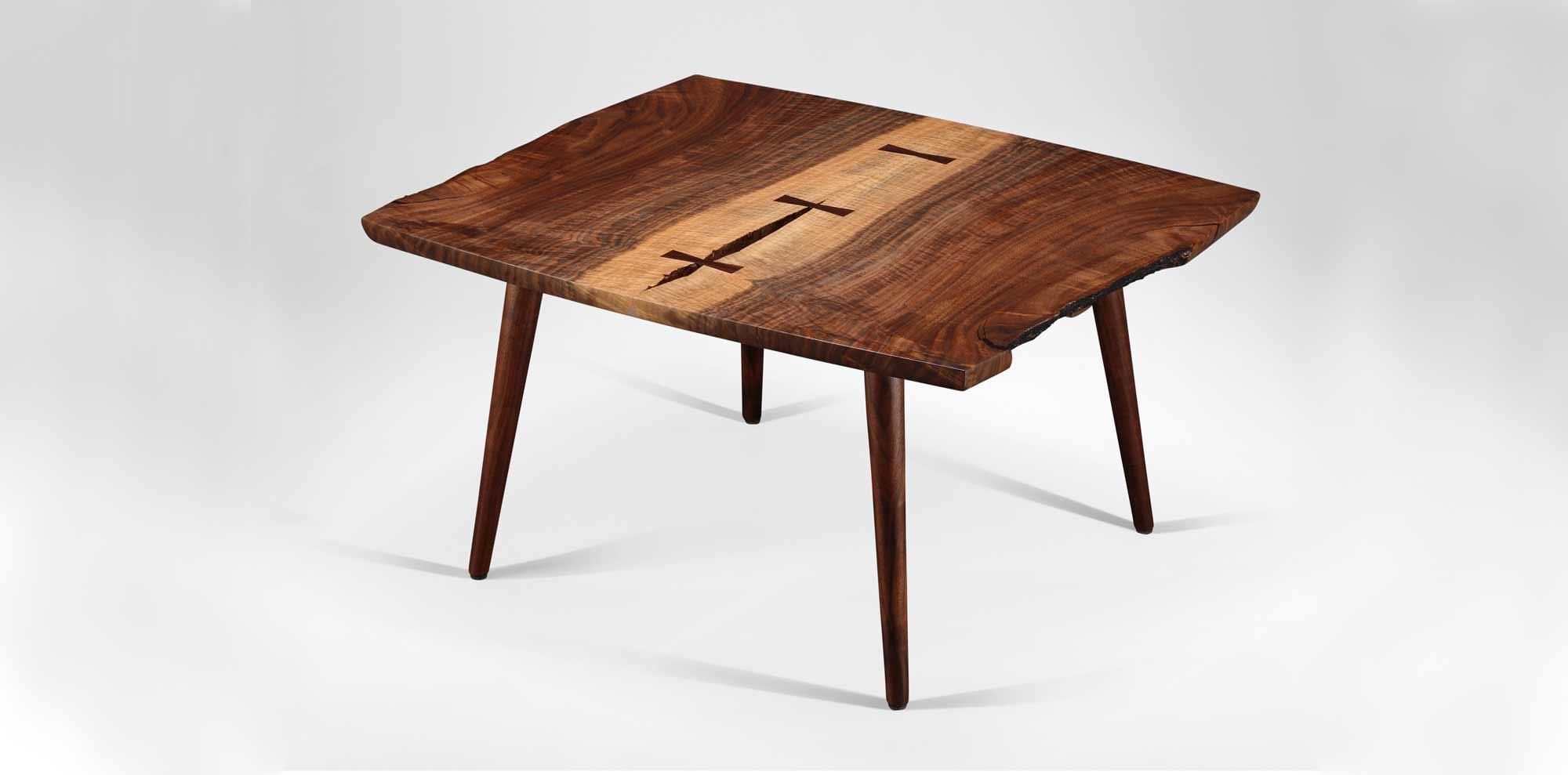 Handmade Soojian Coffee Table w/ live edge design