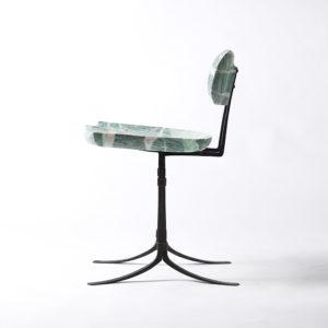 Custom carved Sandhill Chair in Mariposite